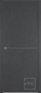 """Межкомнатная дверь """"URBAN 1"""", пг, JET LOFT (алюминиевый молдинг)"""