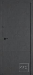 """Межкомнатная дверь """"URBAN 2"""", пг, JET LOFT (черный молдинг)"""