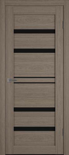 """Межкомнатная дверь """"Атум PRO Х26"""", по, Brun Oak, черное стекло"""