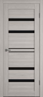 """Межкомнатная дверь """"Атум PRO Х26"""", по, Stone Oak, черное стекло"""