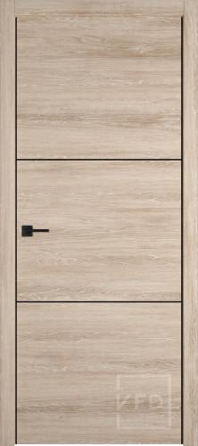 "Межкомнатная дверь ""URBAN 2"", пг, Sand Vellum (черный молдинг)"