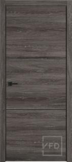 """Межкомнатная дверь """"URBAN 2"""", пг, Terra Vellum (черный молдинг)"""